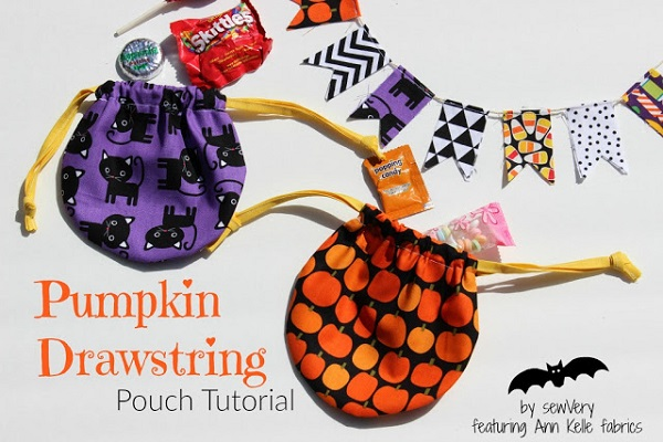 Tutorial: Little round drawstring pouch