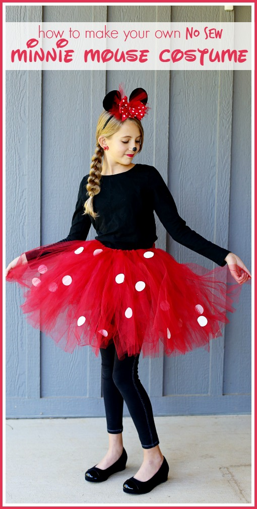 Tutorial No-sew Minnie Mouse costume with a tutu and bow headband  sc 1 st  Sewing @ CraftGossip & Tutorial: No-sew Minnie Mouse costume with a tutu and bow headband ...