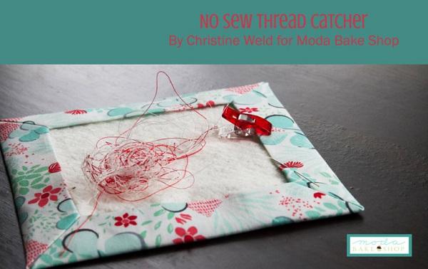 Tutorial: No-sew thread catcher mat