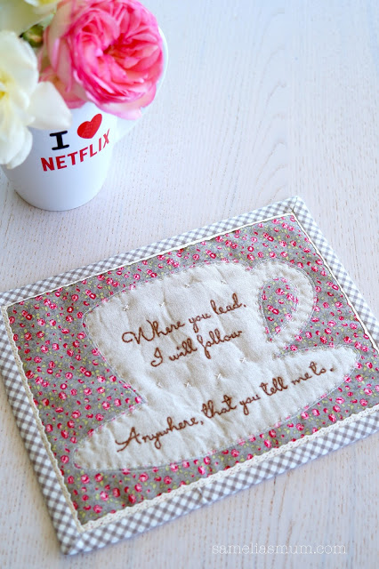 Free pattern: Gilmore Girls coffee cup mug rug
