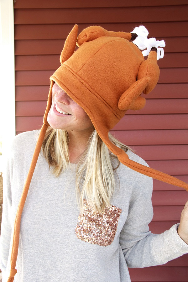 Free pattern: Fleece Thanksgiving turkey hat – Sewing