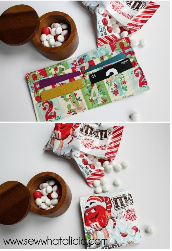 Tutorial: Candy wrapper gift card wallet