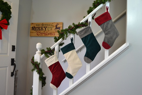 Free pattern: Cuffed Christmas stocking