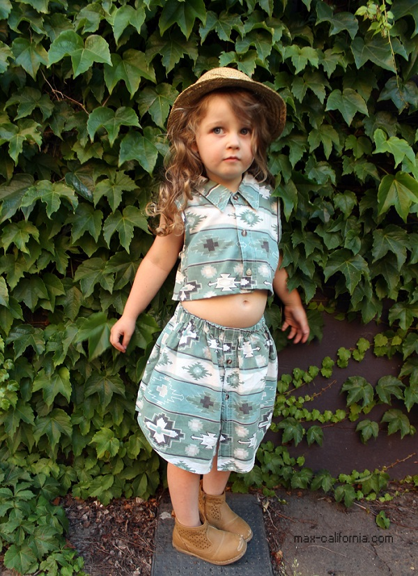 Tutorial: Little girls skirt set from a mens shirt
