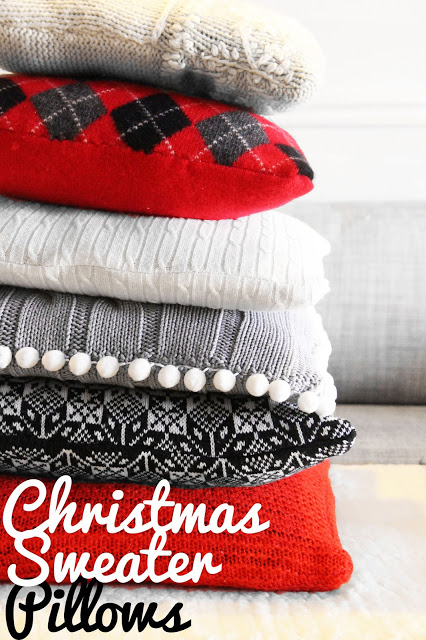 Tutorial: Make Christmas pillows from old sweaters