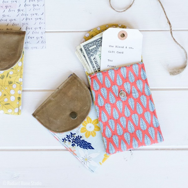 Tutorial: Waxed canvas gift pouch