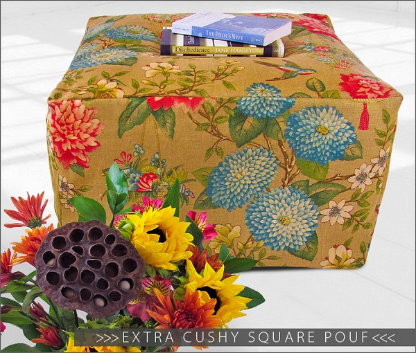 Tutorial Square Pouf Ottoman Sewing