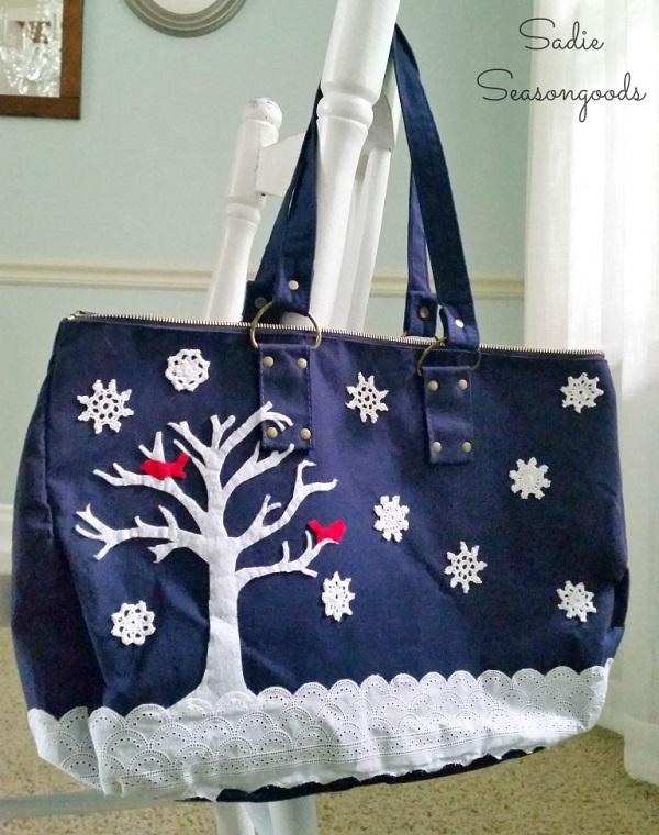 Tutorial: Winter Wonderland tote bag