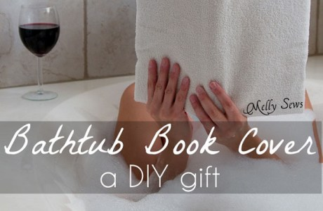 Tutorial: Terry cloth book cover for the bathtub