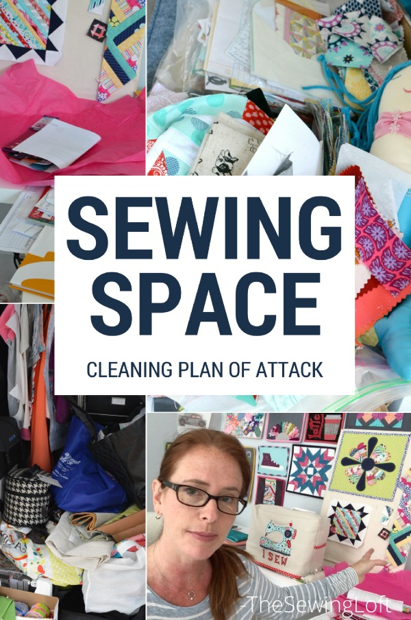 Start the new year with a clean sewing space