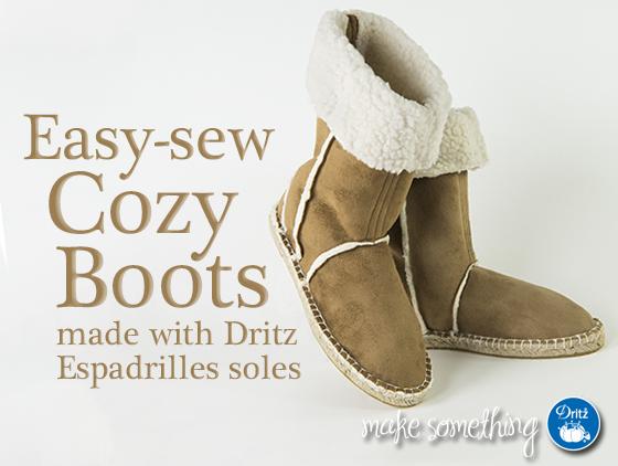 Free pattern: Cozy Sherpa fleece boots