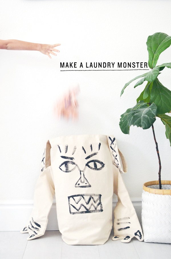 Tutorial: Laundry monster hamper