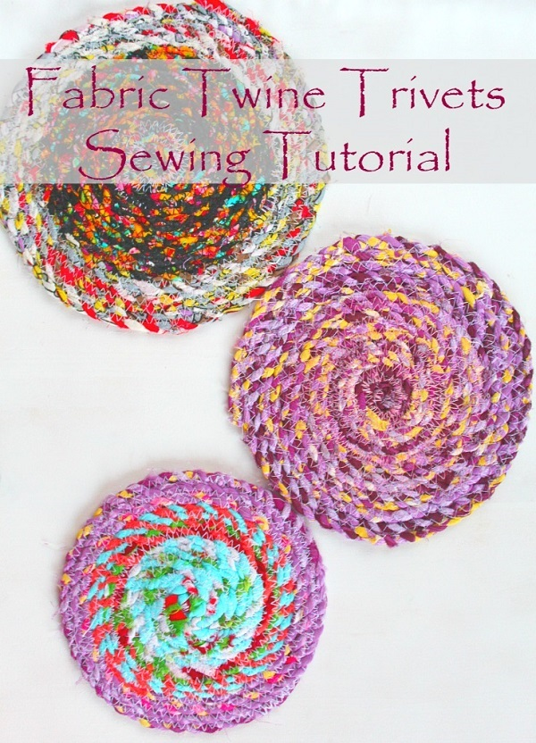 Tutorial: Fabric twine trivets
