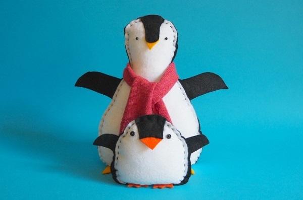 Free pattern: Felt penguin softies