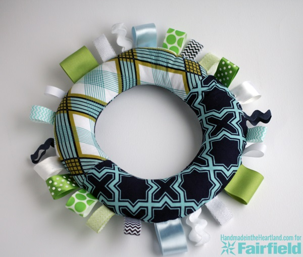 Tutorial: Soft ring taggie toy for baby