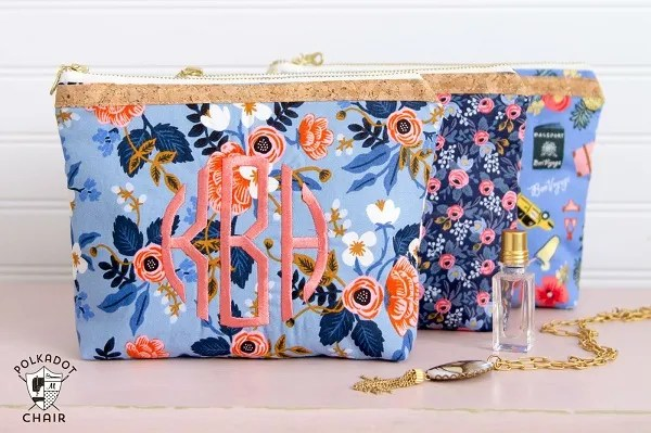 Tutorial: Fat quarter lined zipper pouch