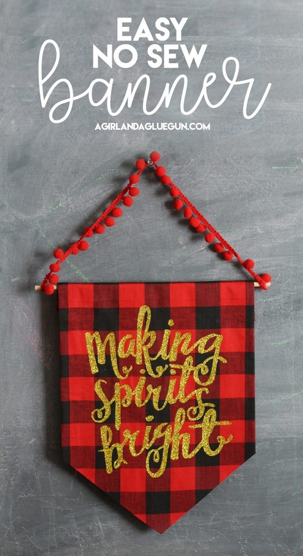 Tutorial No Sew Festive Holiday Banner Sewing