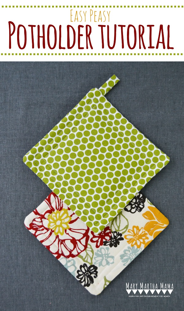 Tutorial Simple And Easy Pot Holders Sewing
