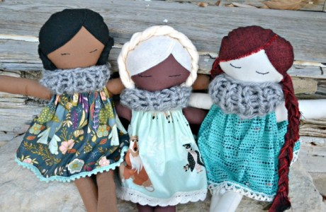 Free pattern: Fabric doll and dress