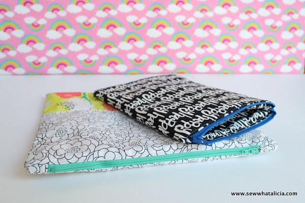 Tutorial: Sew a simple lined zipper pouch