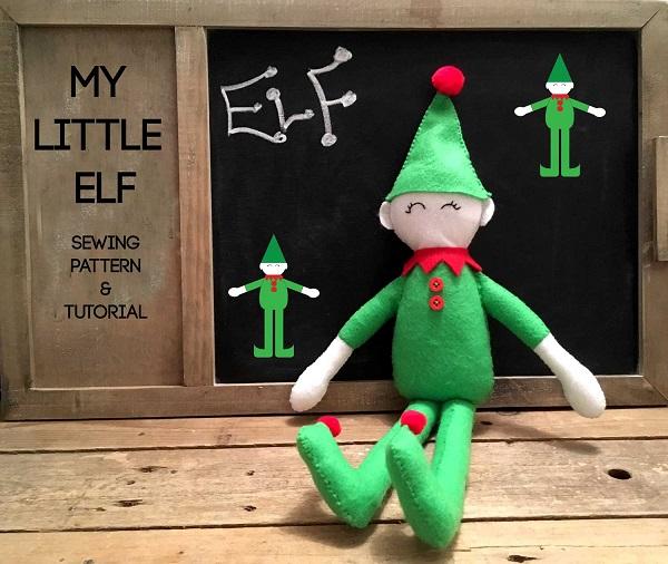 Free pattern: Little elf felt doll
