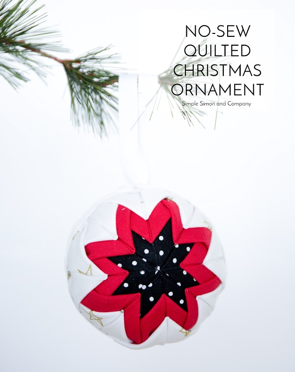 Tutorial: No-sew folded fabric Christmas ornament – Sewing