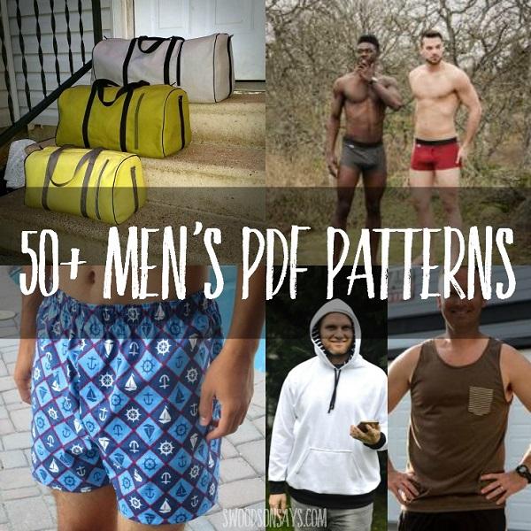 50 PDF sewing patterns for men