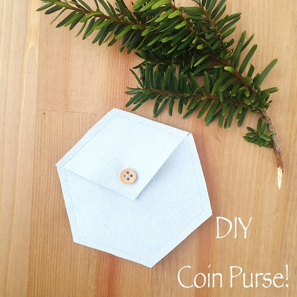 Free pattern: Hexi coin purse