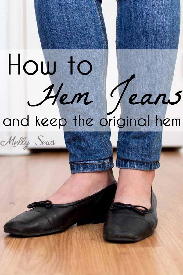 Tutorial: Shorten your jeans but keep the original hem