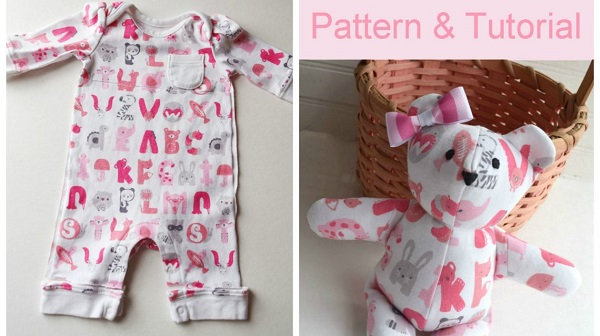 Free Pattern Memory Bear From Baby Clothes Sewing