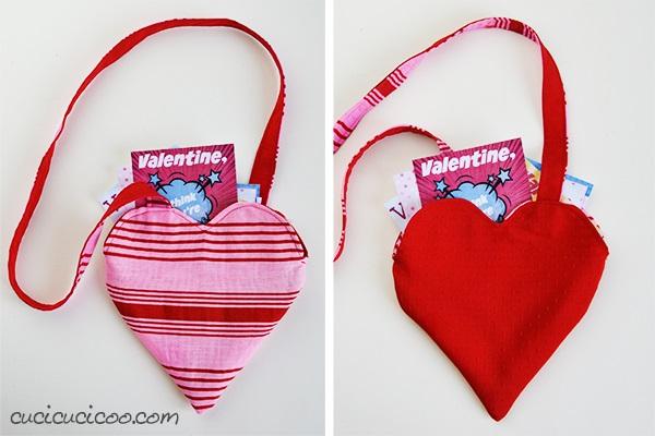 Free pattern: Reversible heart Valentines bag