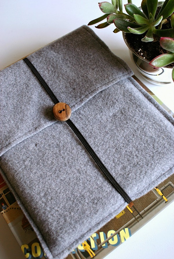 Tutorial: Wool felt tablet cover