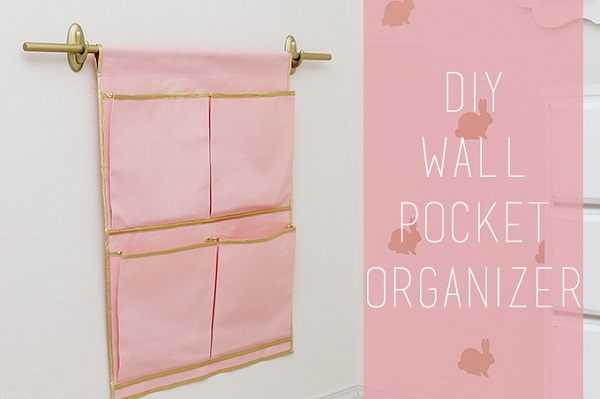 Tutorial Hanging Pocket Organizer Sewing