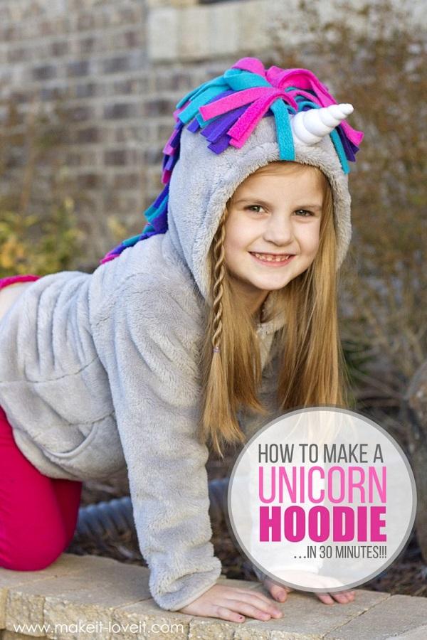 Tutorial: Easy unicorn hoodie
