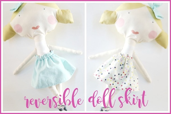 Tutorial: Easy reversible doll skirt