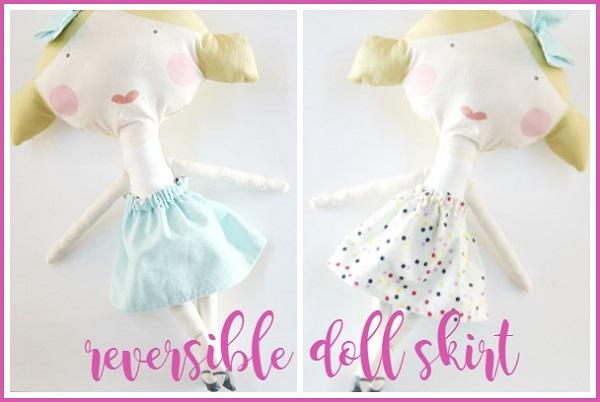 Tutorial: Easy reversible doll skirt