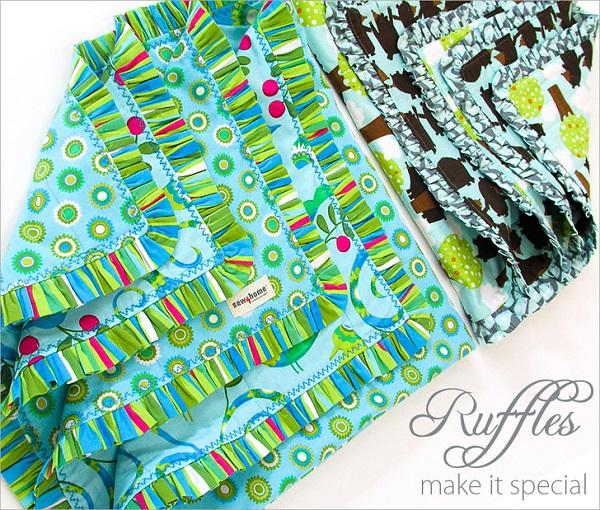 Tutorial: Ruffle edge baby blanket