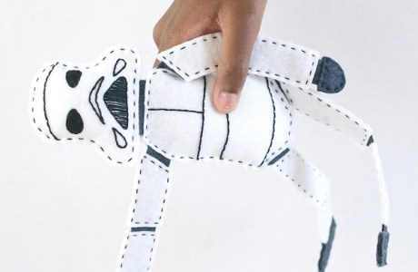 Tutorial and pattern: Felt Rogue One Stormtrooper Doll