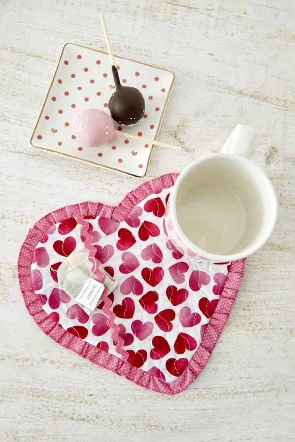 Tutorial: Heart mug rug