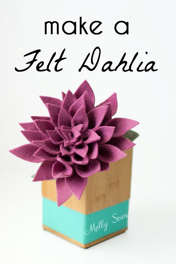 Video tutorial Felt dahlia