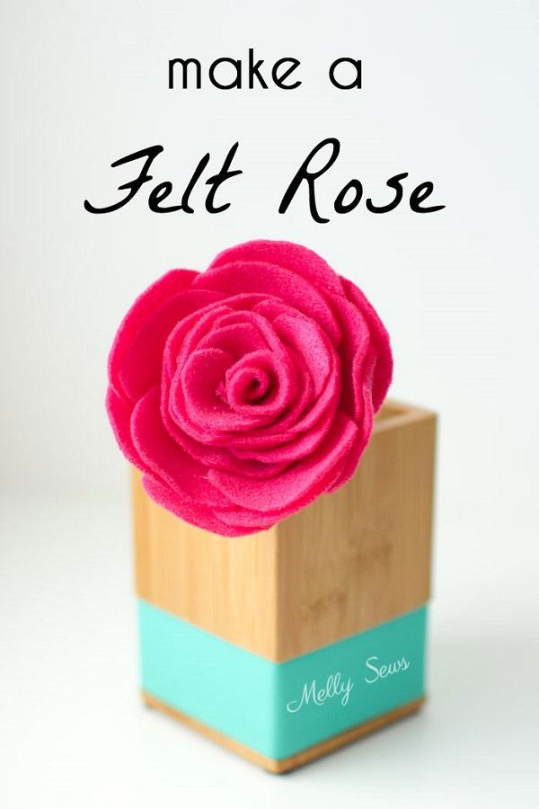 Tutorial Beautiful felt roses