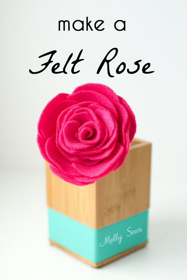 Tutorial: Beautiful felt roses