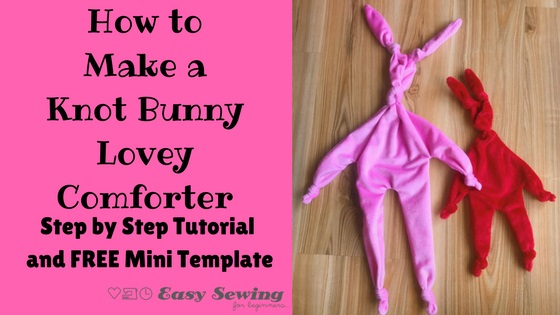 Free pattern: Knotted bunny lovey