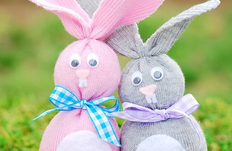 Tutorial: No-sew sock bunny softie