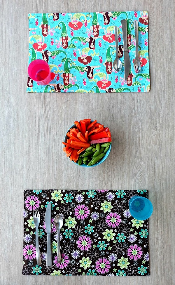 Tutorial: 10 minute reversible placemat