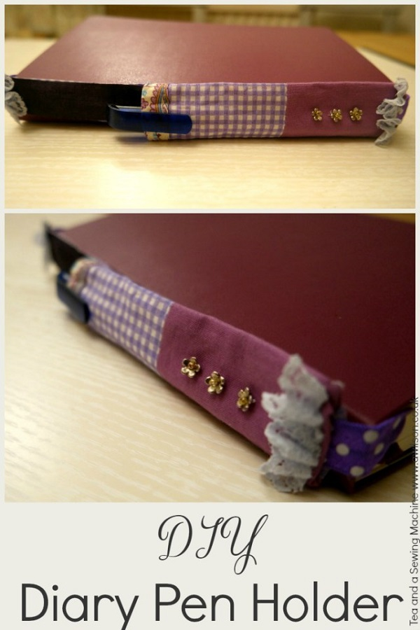 Tutorial: Scrap fabric journal pen pocket