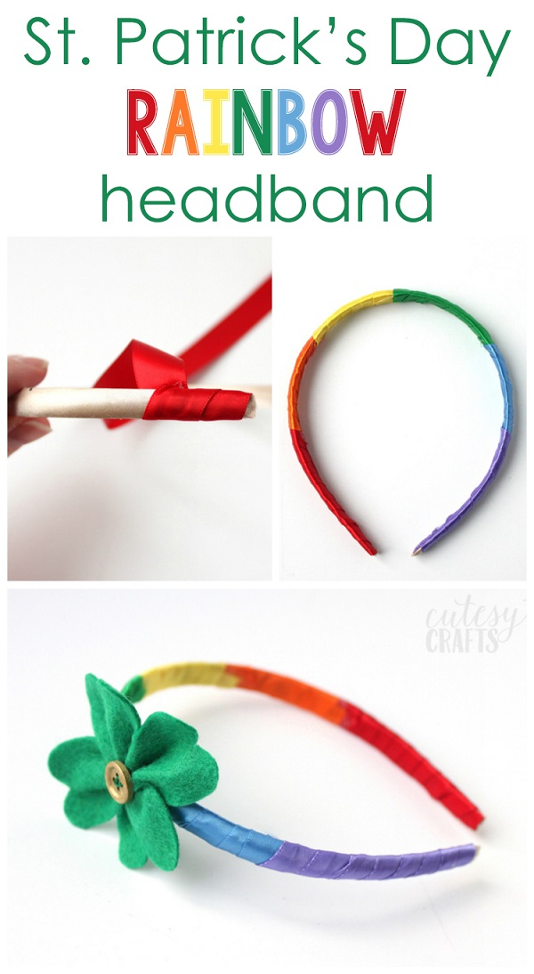 Tutorial: Rainbow St. Patrick's Day Headband