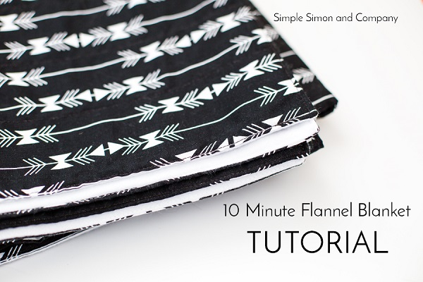 Tutorial: 10 minute flannel baby blanket