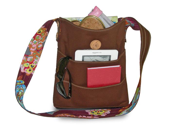 Tutorial: Small travel tote with wraparound pockets