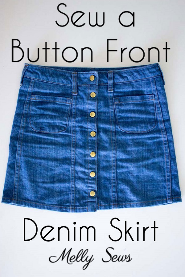 Tutorial: Button front denim skirt